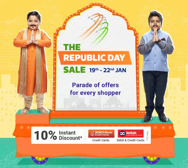 Flipkart Republic Day Sale 19th-22nd Jan 2020: Upto 90% Off Mobile Offers + Extra 10% Instant ICICI Bank & Kotak Bank Discount