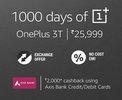 OnePlus 3T - Flat Rs 4,000 off + Exchange Offer