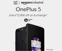 One Plus 5 - Extra Rs 2,000 Off