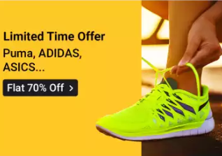 Up to 70% off on Top brands of Shoes