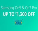 Samsung On5 & On7 Pro - Rs 1,300 off