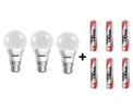 Minimum 30% off on Branded LED Bulbs Eveready, Philips & more