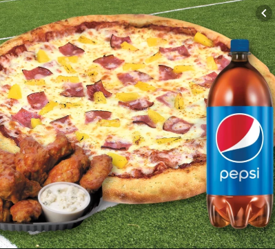 Classic Combo Non Veg Offer - Regular Pepper BBQ Chicken Pizza & Pepsi at just Rs 199