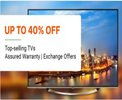 Upto 40% off on TV