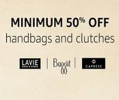 Bags & Clutches - Min 50% off