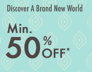 Upto 50% off - On selected Brands
