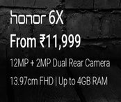 Honor 6X - Upto Rs 13,000 off on Exchange