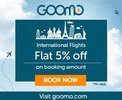 INTERNATIONAL FLIGHTS- Flat 5% off  BOOKING