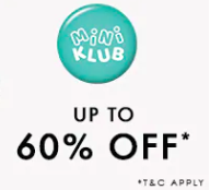 Baby Clothing upto 60% off - Mini Klub