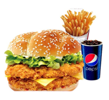 2 Double Down Burgers plus 2 Pepsi Cans at Rs. 449