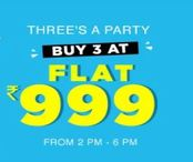 Buy 3 - Rs 999 only