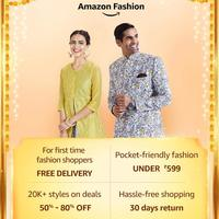 Upto 80% on Amazon Fashion